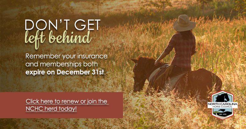 Don't Get left behind - Remember your insurance and memberships both expire on December 31st.