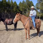 Justin Dunn and his Mustang Cinnamon. PC Bob Fitzgerald